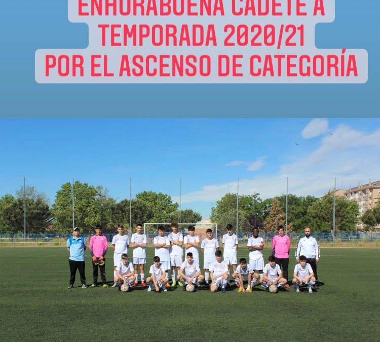 Ascenso a Primera de nuestro Cadete A de la temporada 2020/2021